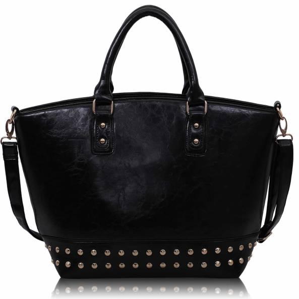 Dámska kabelka kožená Tote vybíjaná s nitmi fb410ce721b