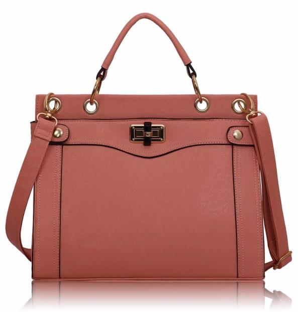 8a0f6e824 Dámska kabelka kožená s rúčkou línia Fia, ružová